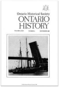 Ontario History 1980 v72 n4 December Cover