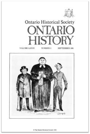 Ontario History 1981 v73 n3 September Cover
