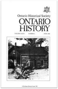 Ontario History 1982 v74 n2 June Cover