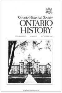 Ontario History 1982 v74 n3 September Cover