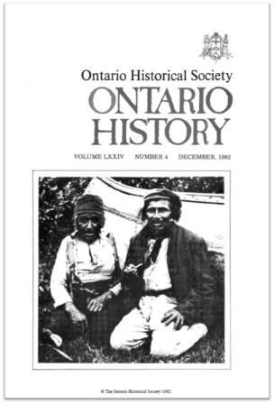 Ontario History 1982 v74 n4 December Cover