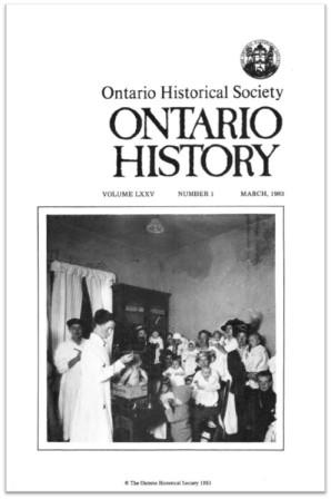 Ontario History 1983 v75 n1 March Cover