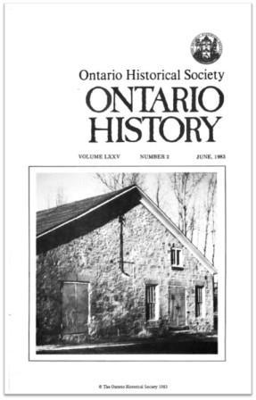 Ontario History 1983 v75 n2 June Cover