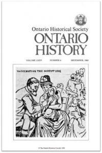Ontario History 1983 v75 n4 December Cover