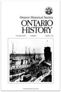 Ontario History 1984 v76 n1 March Cover