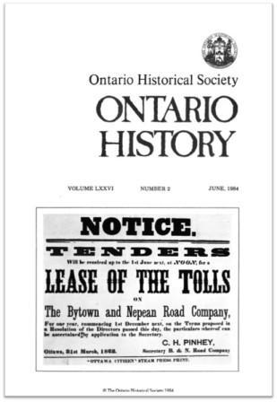Ontario History 1984 v76 n2 June Cover