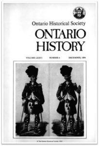 Ontario History 1984 v76 n4 December Cover