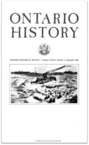 Ontario History 1985 v77 n3 September Cover