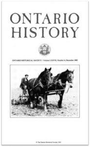 Ontario History 1985 v77 n4 December Cover