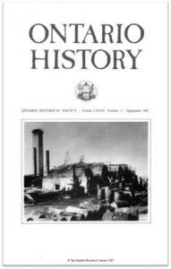 Ontario History 1987 v79 n3 September Cover