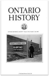 Ontario History 1988 v80 n2 June Cover