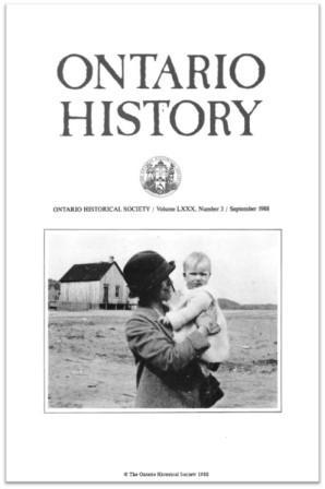 Ontario History 1988 v80 n3 September Cover