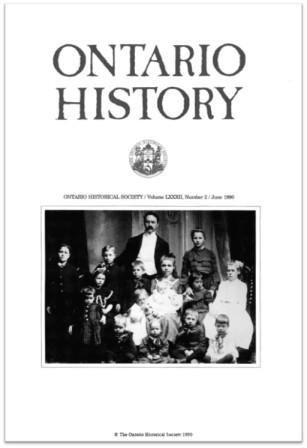 Ontario History 1990 v82 n2 June Cover