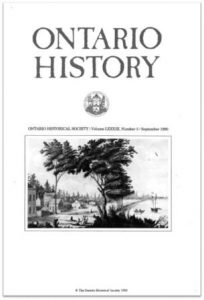Ontario History 1990 v82 n3 September Cover