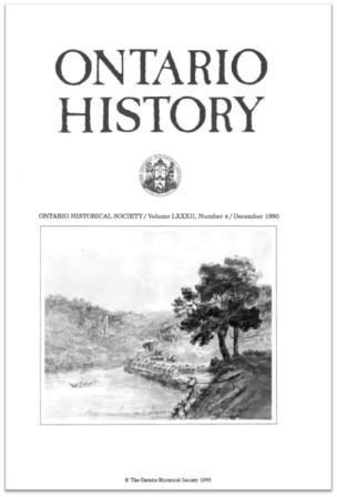 Ontario History 1990 v82 n4 December Cover