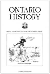 Ontario History 1991 v83 n2 June Cover