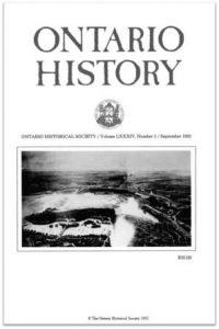 Ontario History 1992 v84 n3 September Cover