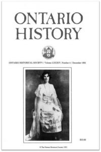 Ontario History 1992 v84 n4 December Cover