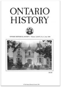 Ontario History 1994 v86 n2 June Cover