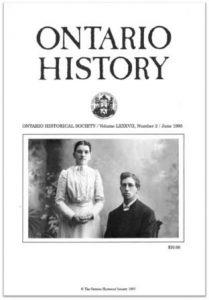 Ontario History 1995 v87 n2 June Cover