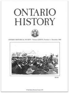 Ontario History 1995 v87 n4 December Cover
