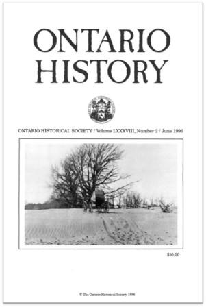 Ontario History 1996 v88 n2 June Cover