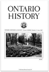 Ontario History 1997 v89 n2 June Cover
