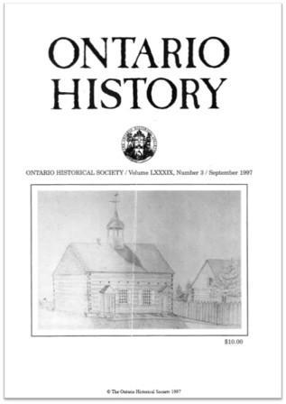 Ontario History 1997 v89 n3 September Cover