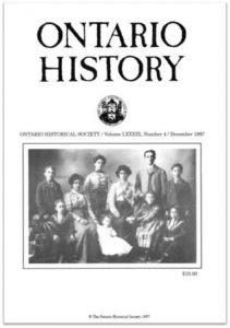 Ontario History 1997 v89 n4 December Cover