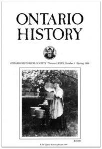 Ontario History 1998 v90 n1 Spring Cover