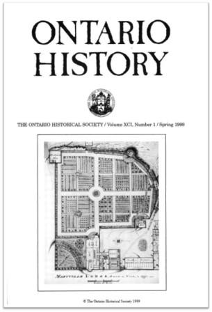 Ontario History 1999 v91 n1 Spring Cover