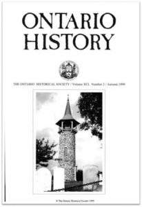 Ontario History 1999 v91 n2 Autumn Cover