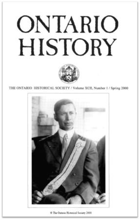 Ontario History 2000 v92 n1 Spring Cover