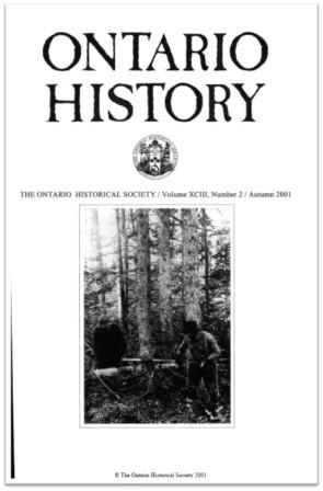 Ontario History 2001 v93 n2 Autumn Cover