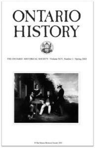 Ontario History 2003 v95 n1 Spring Cover