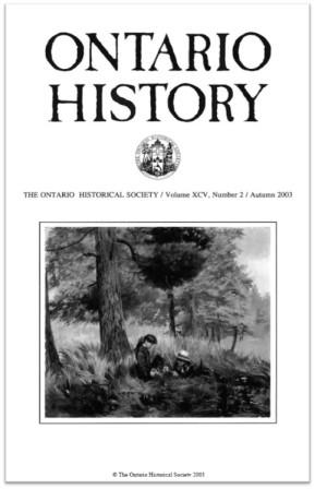 Ontario History 2003 v95 n2 Autumn Cover