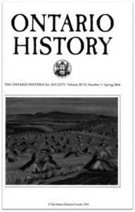 Ontario History 2004 v96 n1 Spring Cover