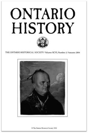 Ontario History 2004 v96 n2 Autumn Cover