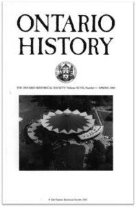 Ontario History 2005 v97 n1 Spring Cover