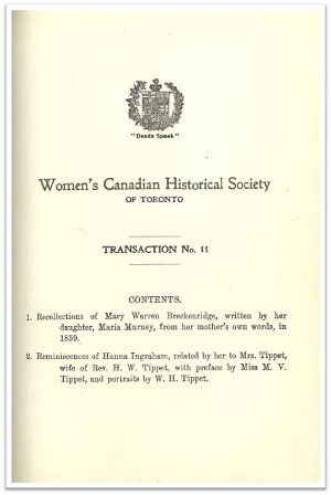 1913 Transaction No 11 of the WCHST Cover