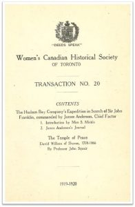 1919-1920 Transaction No 20 of the WCHST Cover
