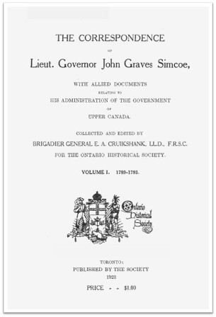 The Simcoe Papers, Volume 1 cover