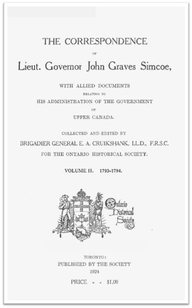 The Simcoe Papers, Volume 2 cover