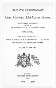The Simcoe Papers, Volume 3 cover