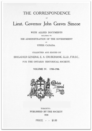 The Simcoe Papers, Volume 4 cover