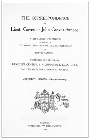 The Simcoe Papers, Volume 5 cover