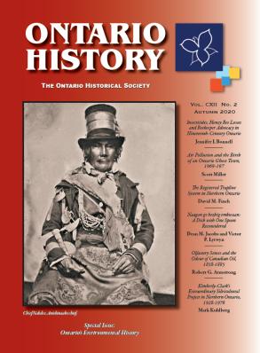 Ontario History Autumn 2020 Cover