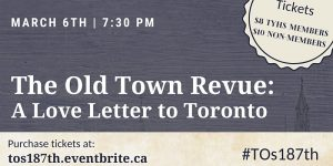 Town of York Historical Society 2021 Old Town Revue