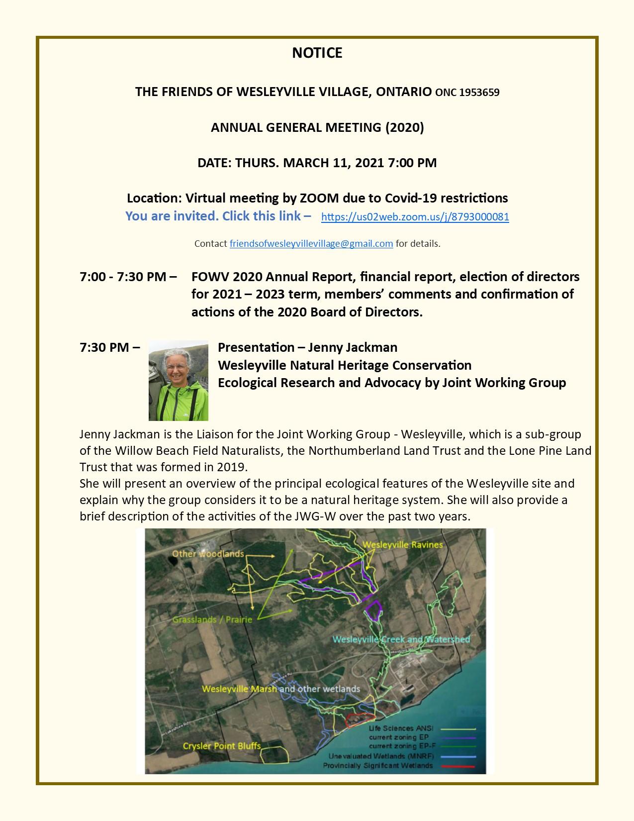 Friends of Wesleyville Village 2020 AGM