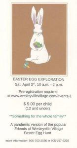 Friends of Wesleyville Village Easter Egg Exploration 2021